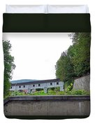 Wooden Walkway As Seen From The Cesky Krumlov Casle Gardens  Duvet Cover