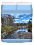 Woodhull Creek In May Duvet Cover