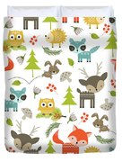 Woodland Animals Duvet Cover by Tiffany Dawn Smith