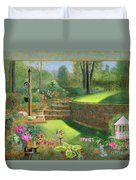 Woodland Garden In A Small Town Duvet Cover