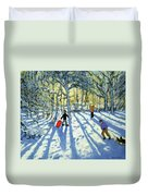 Woodland In Winter Duvet Cover