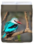 Woodland Kingfisher Halcyon Duvet Cover