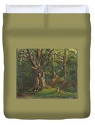Woodland Scene With Rabbits Duvet Cover