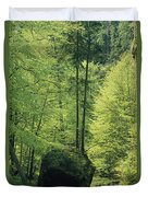 Woodland View With Stream, Sachsische Duvet Cover