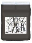 Woodpecker In The Forest Duvet Cover