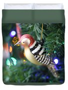 Woodpecker Ornament Duvet Cover