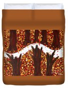 Woods In Autumn Duvet Cover