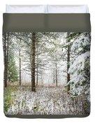 Woods In Winter At Retzer Nature Center  Duvet Cover