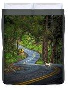 Woods Road 1 - Summer Duvet Cover