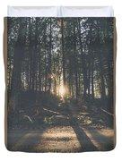 Woods Sunset Duvet Cover