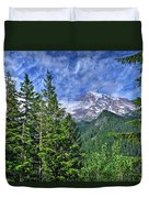 Woods Surrounding Mt. Rainier Duvet Cover