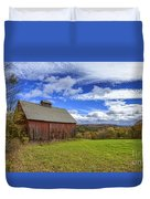 Woodstock Vermont Old Red Barn In Autunm Duvet Cover