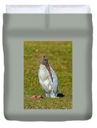 Woodstork On The Lookout Duvet Cover