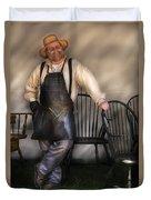 Woodworker - The Chair Maker  Duvet Cover