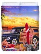 Woody Beach Duvet Cover