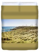 Woolnorth Wind Farm And Ocean Landscape Tasmania Duvet Cover