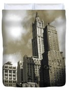 Old New York Photo - Historic Woolworth Building Duvet Cover