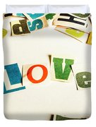 Word Of Love Duvet Cover