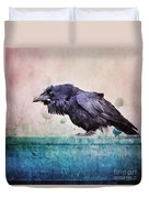 Words Of A Raven Duvet Cover