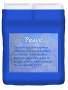 Words Of Peace Duvet Cover