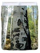 Words Written In The Trees 1 Duvet Cover