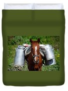 Work Horse At The Azores Duvet Cover by Gaspar Avila