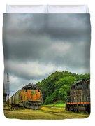 Work Horse Trains 3 Madison Georgia Locomotive Art Duvet Cover