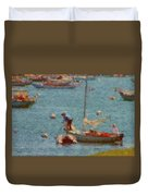 Work These Sails Honey Boothbay Harbor Maine Duvet Cover