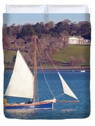 Working Boat At Trelissick Cornwall Duvet Cover