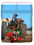 Working His Plow  Duvet Cover