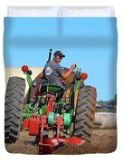 Working His Plow Two  Duvet Cover