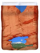 World-famous Pikes Peak Framed By What We Call The Keyhole  Duvet Cover