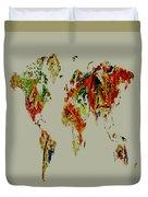 World Map 02a Duvet Cover