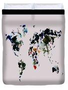 World Map 14b Duvet Cover