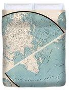 World Map - 1857 Duvet Cover