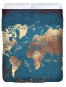 World Map 2065 Duvet Cover