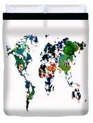 World Map 8b Duvet Cover
