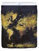 World Map Art 65 Duvet Cover