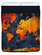 World Map - Elegance Of The Sun - Fractal - Abstract - Digital Art 2 Duvet Cover