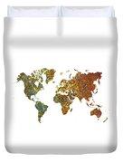 World Map Oriental Duvet Cover