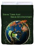 World Needs Tree Duvet Cover