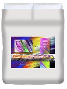 World Of Color And Superimposed Rectangles Duvet Cover