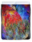World On Display Duvet Cover