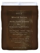 World Series 1913 Duvet Cover