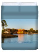 World Showcase Lagoon Before The Show Walt Disney World Duvet Cover