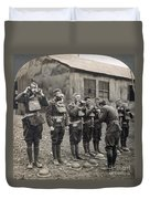 World War I: Gas Masks Duvet Cover