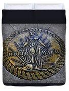 World War II Monument Duvet Cover