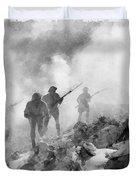 World War Two Battle By John Springfield Duvet Cover