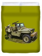 World War Two - Willys - Army Jeep  Duvet Cover