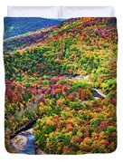 Worlds End State Park Lookout 3 - Paint Duvet Cover
